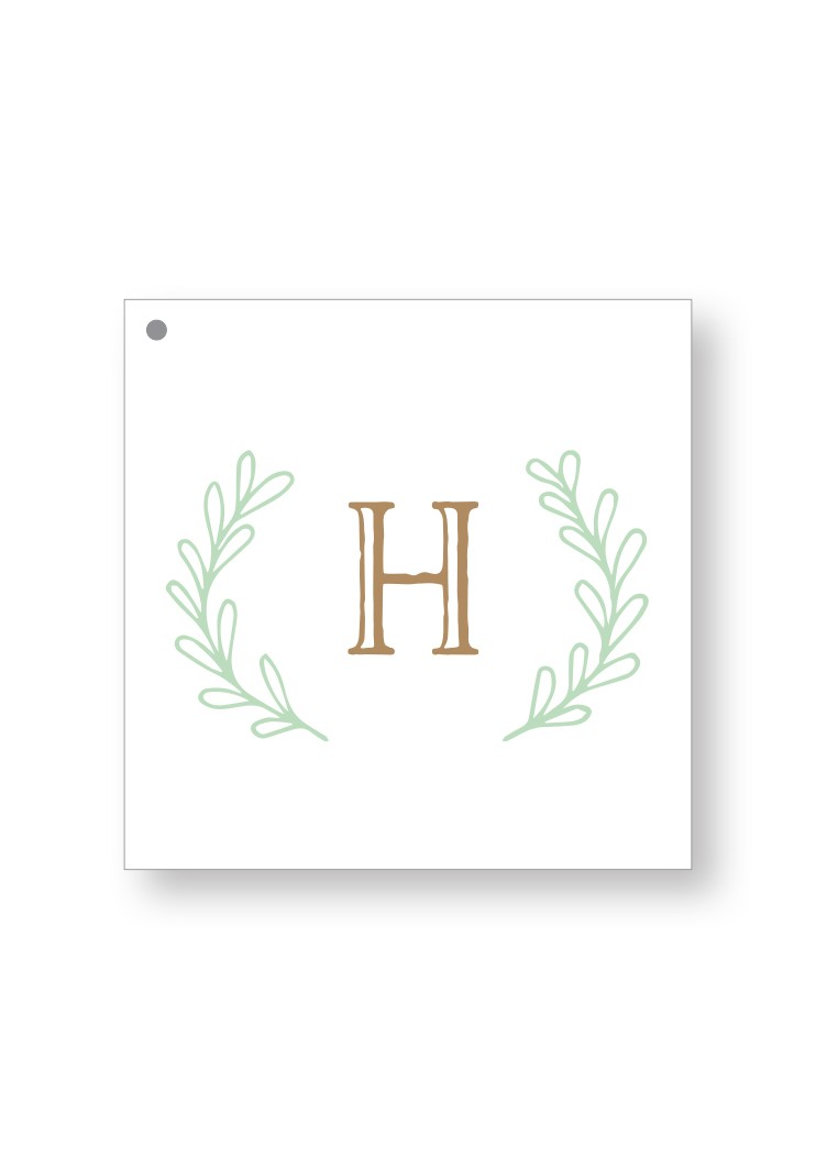 Sage Welcome Box Tag