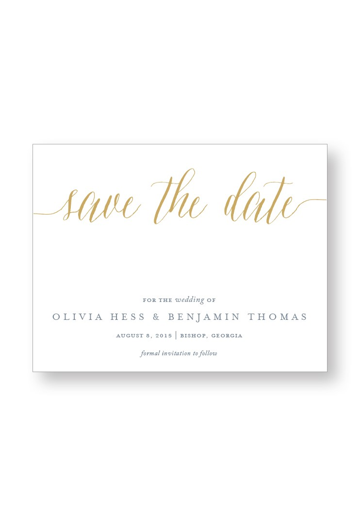 Freesia Save the Date