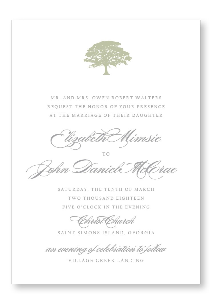 SpanishMoss Invitation Suite