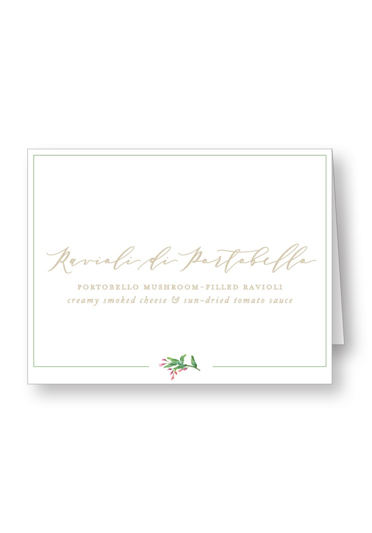 Amaryllis Food Station & Appetizer Signage | Paper Daisies Stationery