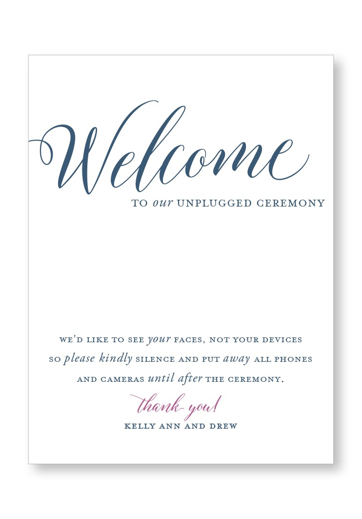 Berry Ceremony & Reception Large Signage