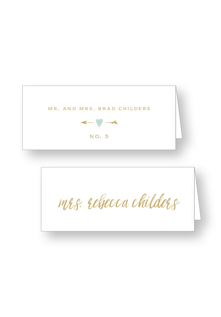 Mint Place Cards