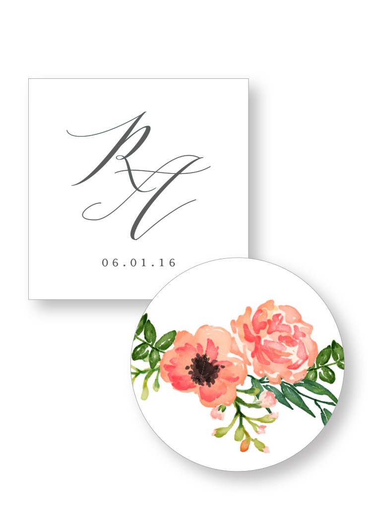 Camellia Welcome Box Sticker | Paper Daisies Stationery