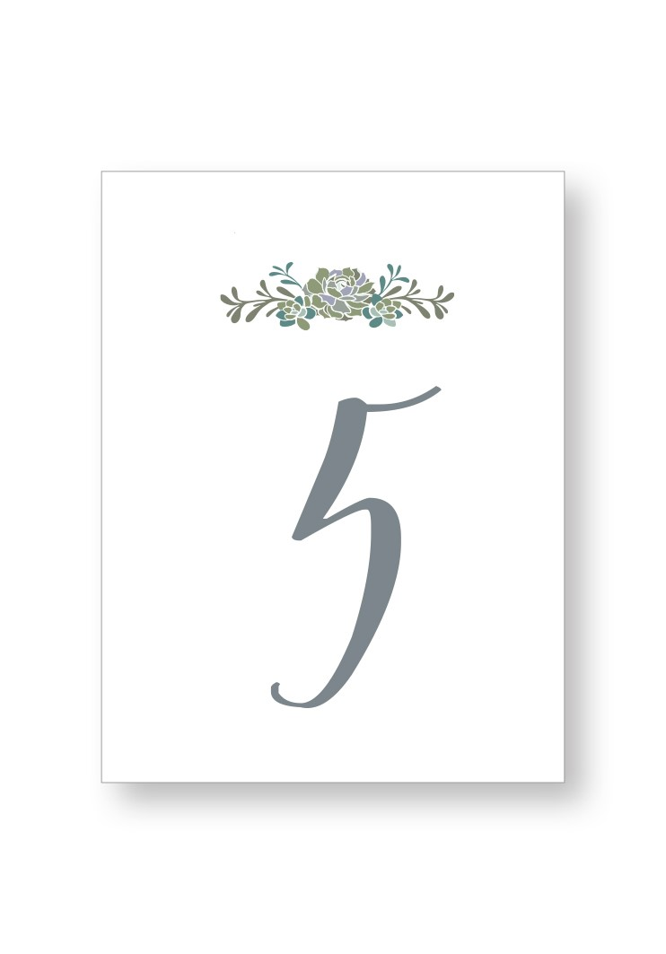 Succulent Table Numbers