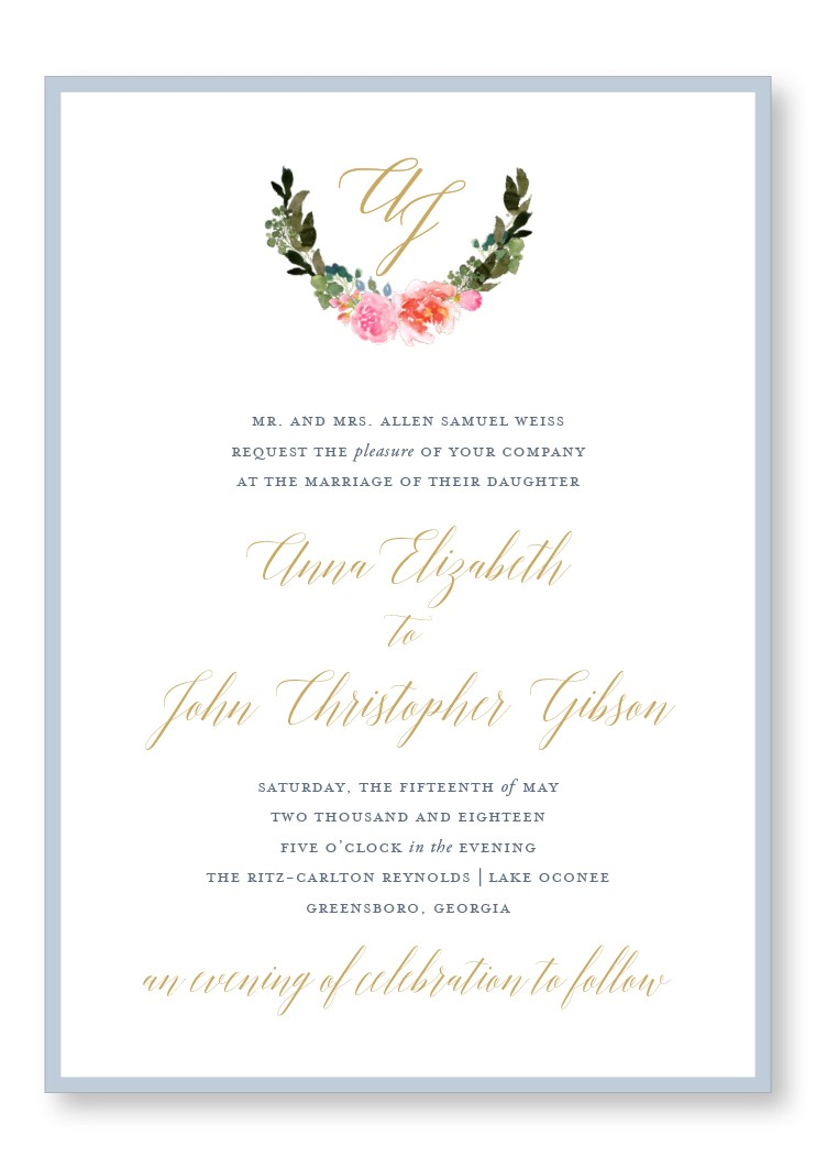 Bouquet Invitation Suite