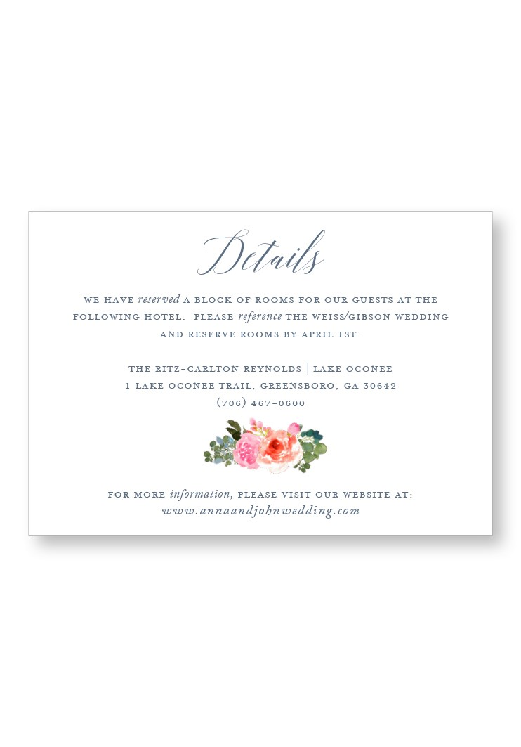 Bouquet Enclosure Card