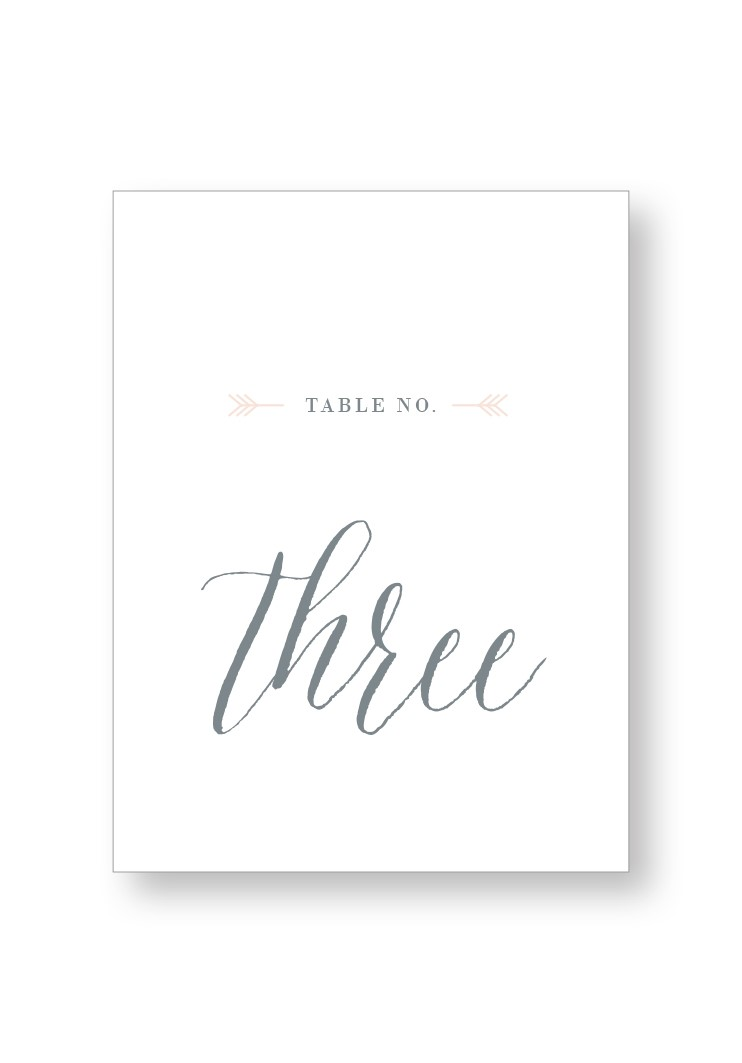 Silver Dust Table Numbers | Paper Daisies Stationery