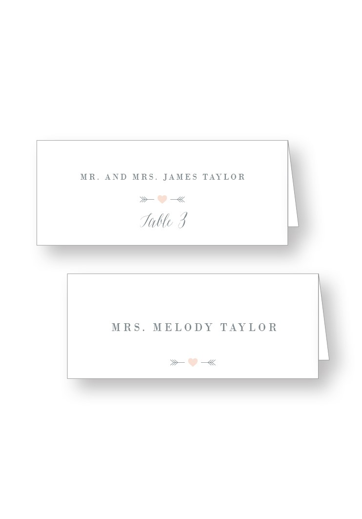 SilverDust Place Cards