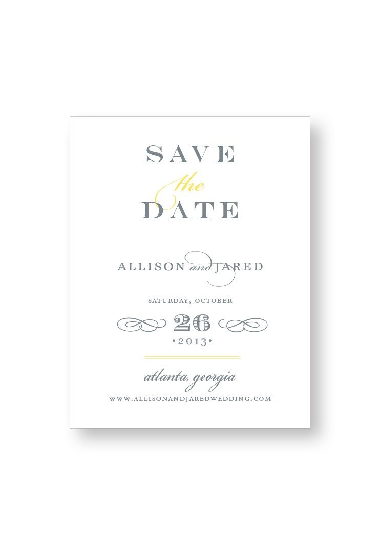 Daffodil Save the Date | Paper Daisies Stationery