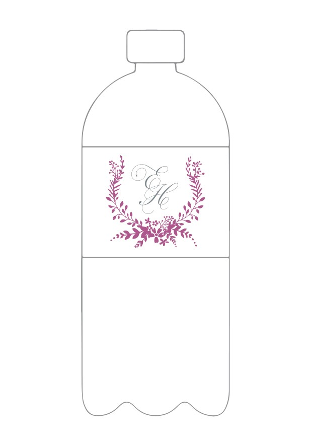 Mulberry Water Bottle Label