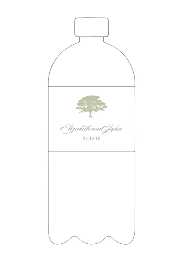 Spanish Moss Water Bottle Label