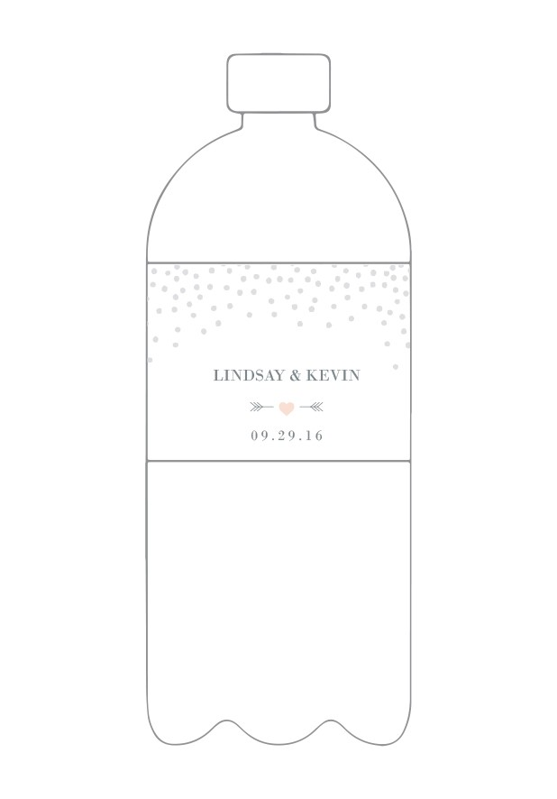 Silver Dust Water Bottle Label