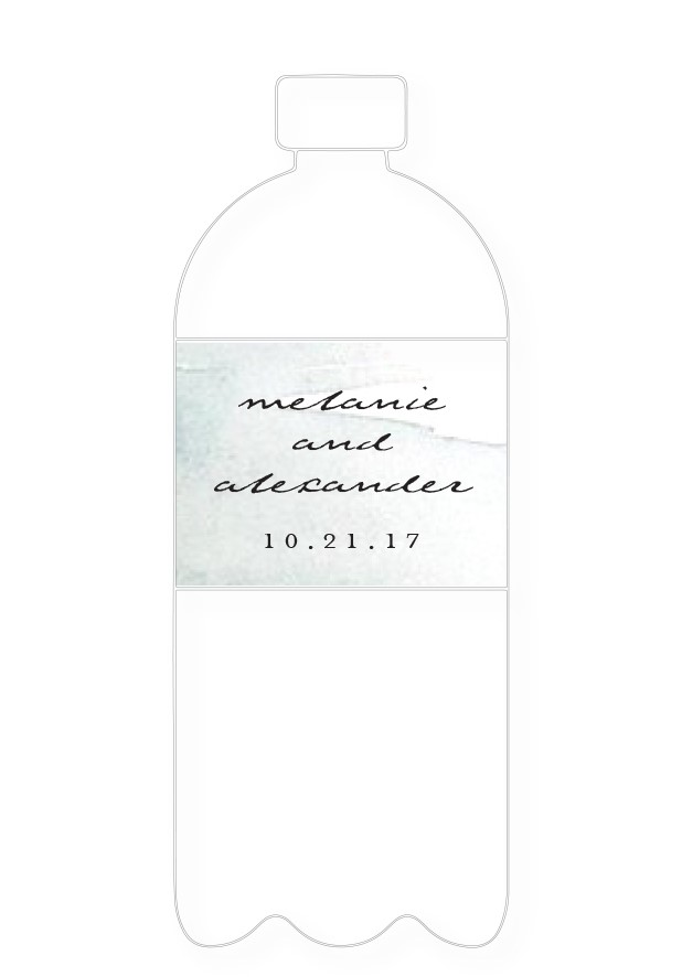 Moss Water Bottle Label