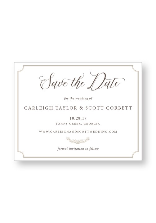 Boxwood Save the Date