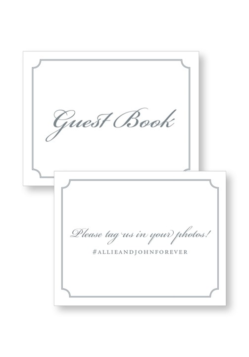 Sweet Pea Ceremony & Reception Small Signage