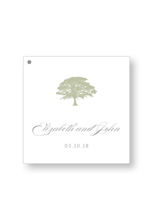 Spanish Moss Welcome Box Tag