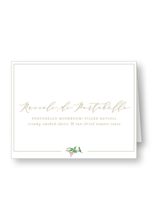 Amaryllis Food Station & Appetizer Signage