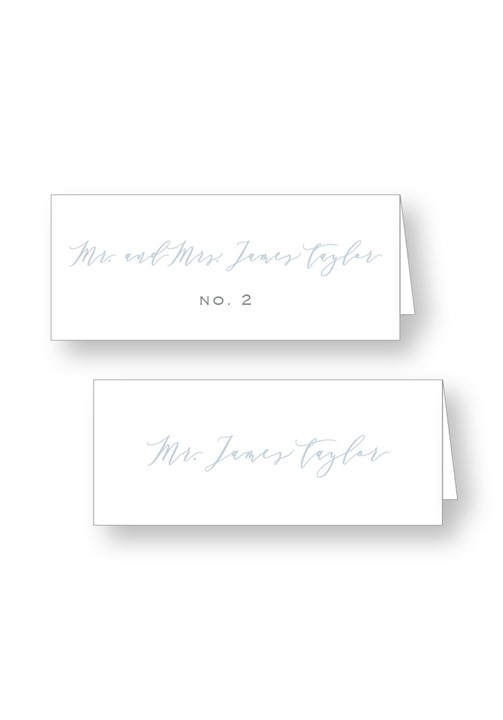 Periwinkle Place Cards