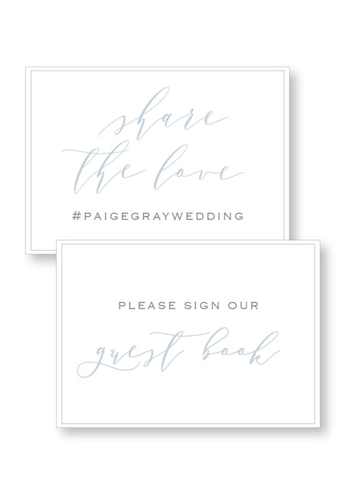 Periwinkle Ceremony & Reception Small Signage