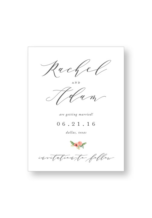 Camellia Save the Date