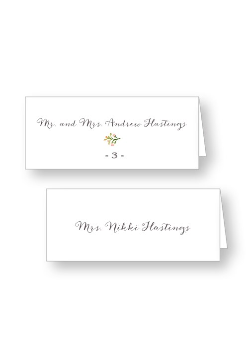 Posey Place Cards