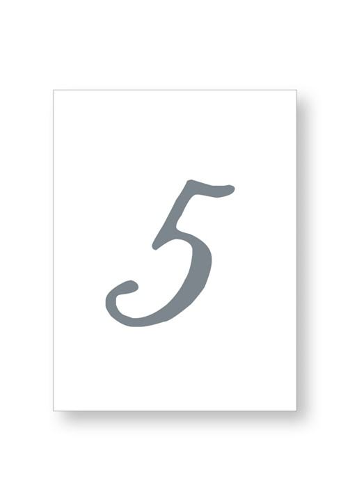 Cotton Table Numbers