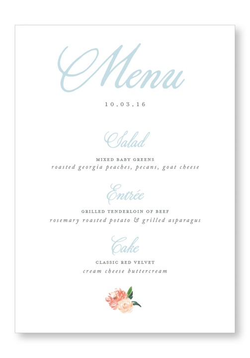 Cotton Menu