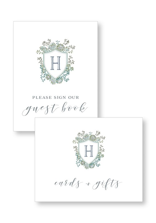 Succulent Ceremony & Reception Small Signage