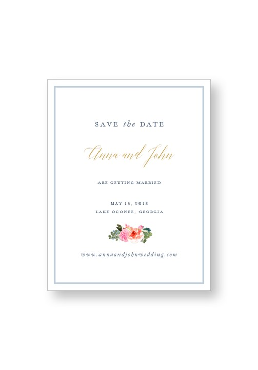 Bouquet Save the Date