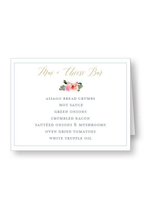 Bouquet Food Station & Appetizer Signage