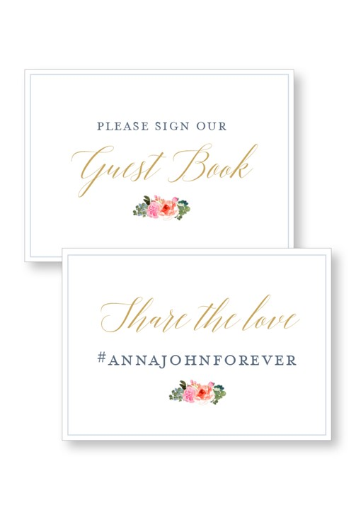 Bouquet Ceremony & Reception Small Signage