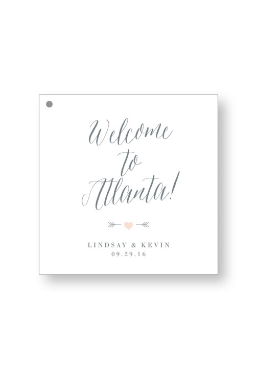 Silver Dust Welcome Box Tag