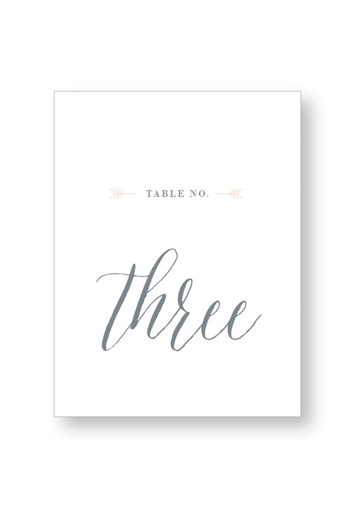 Silver Dust Table Numbers