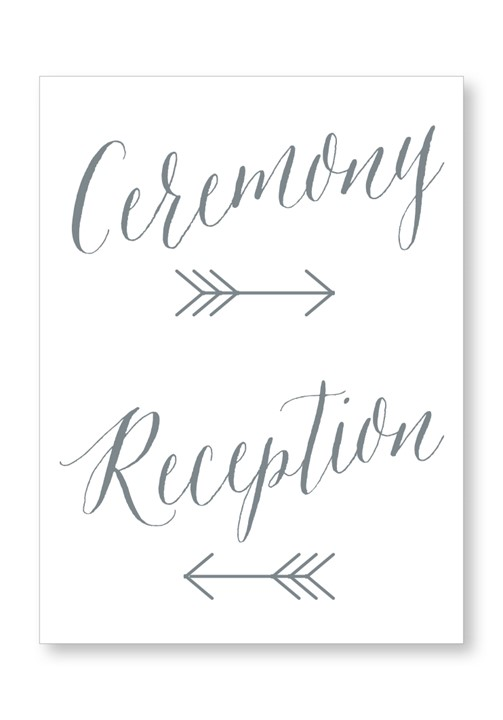 Silver Dust Ceremony & Reception Large Signage