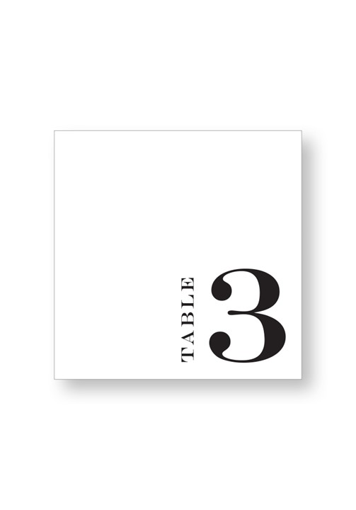 Brunia Table Numbers