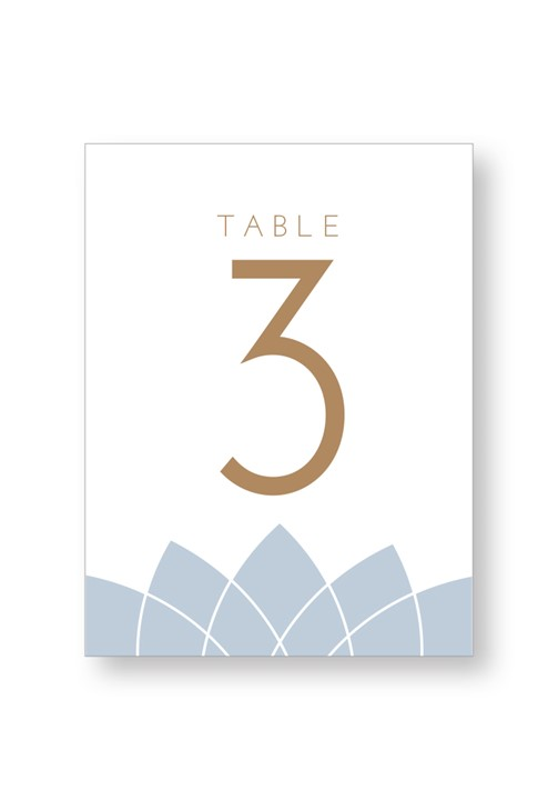 Water Lily Table Numbers