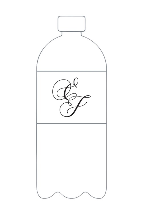 Jasmin Water Bottle Label