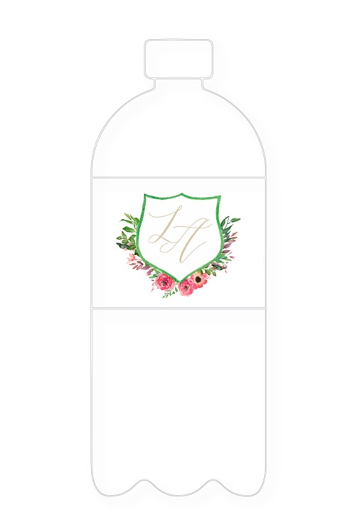Amaryllis Water Bottle Label