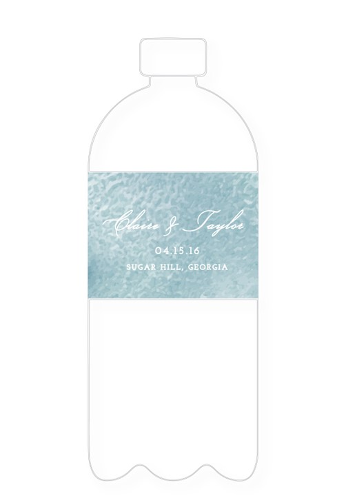 Lotus Water Bottle Label