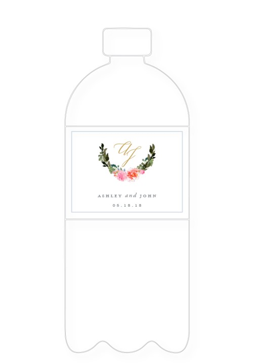 Bouquet Water Bottle Label