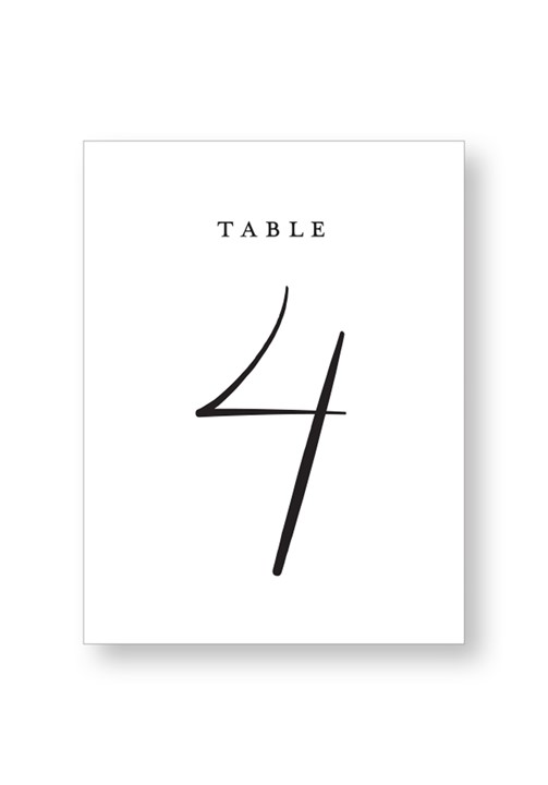 Dogwood Table Numbers