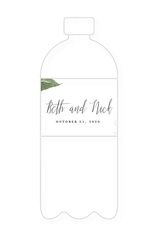 Dogwood Water Bottle Label