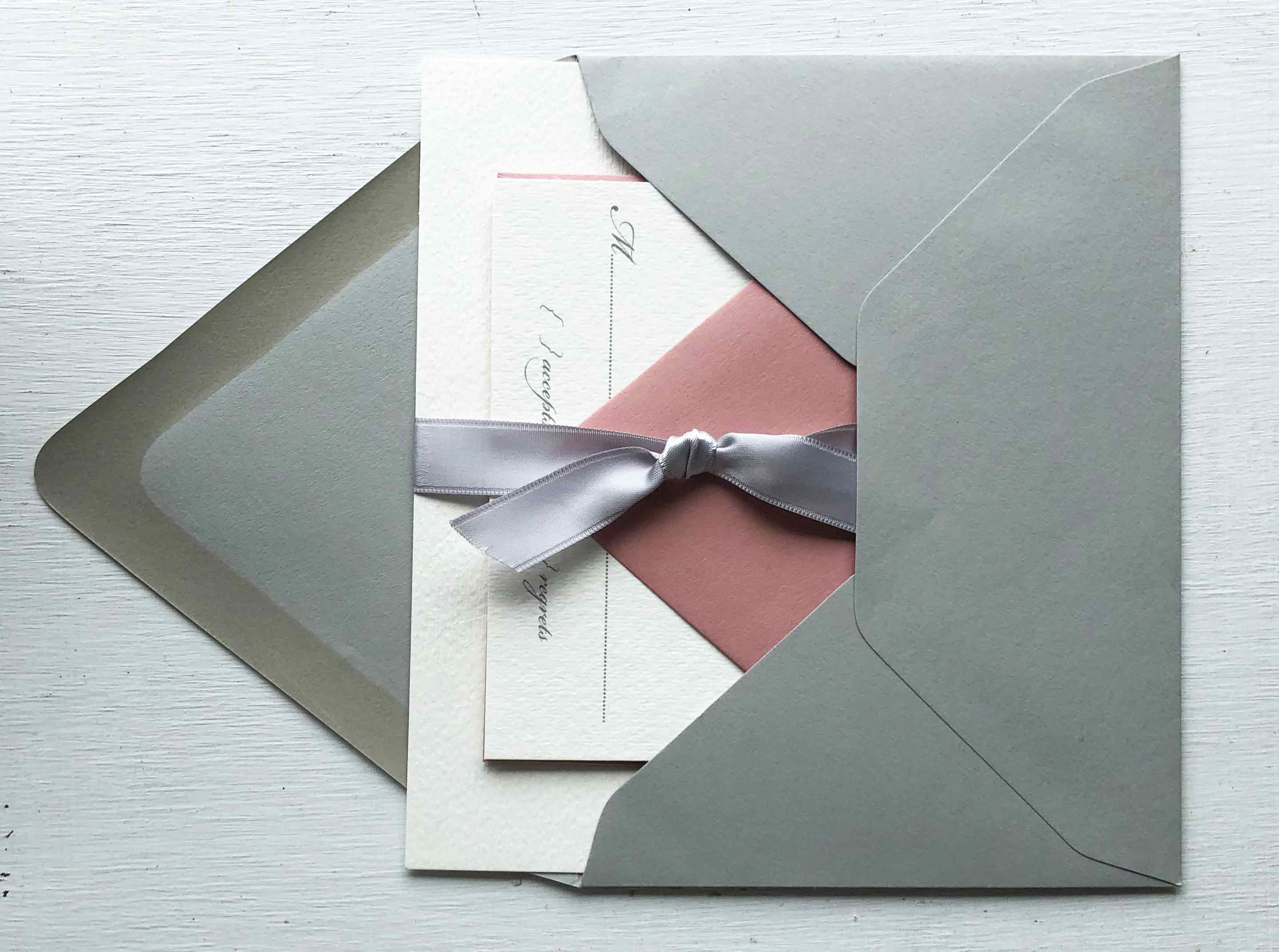 Invitation with colorful envelope
